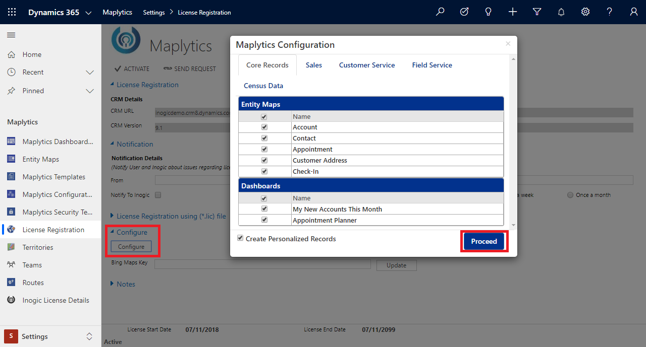 Prerequisites for getting started with Maplytics within Dynamics 365
