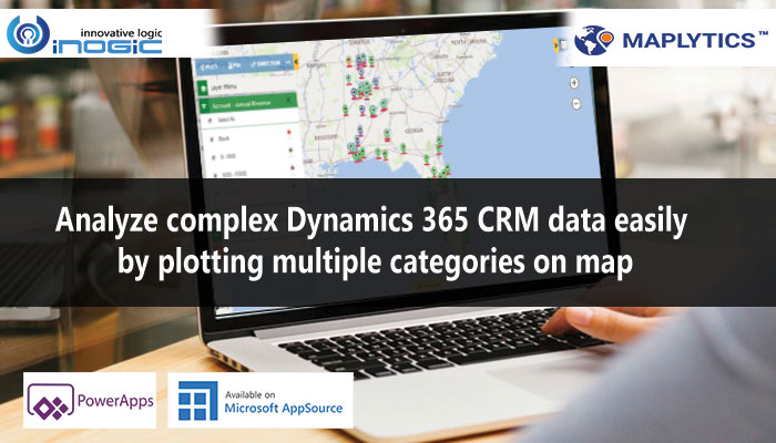 Analyze complex Dynamics 365 CRM data easily by plotting multiple categories on map