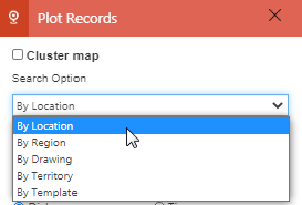 Use current location to Plot and Analyze data 'By Location' on map