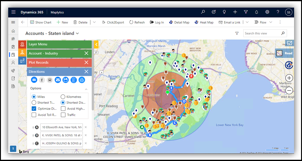Real-Time tracking of Field engineers, Advanced Territory assignment